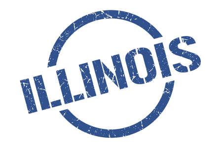 Illinois stamp. Illinois grunge round isolated sign
