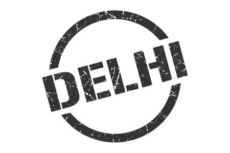 Delhi stamp. Delhi grunge round isolated sign