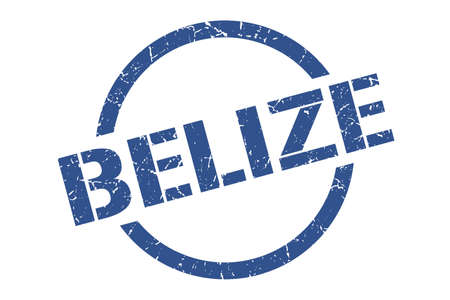 Belize stamp. Belize grunge round isolated sign