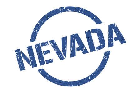 Nevada stamp. Nevada grunge round isolated sign Vectores