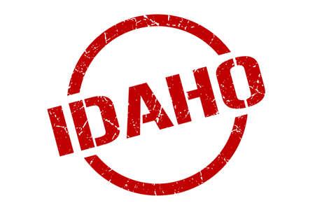 Idaho stamp. Idaho grunge round isolated sign
