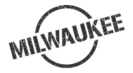 Milwaukee stamp. Milwaukee grunge round isolated sign Vector Illustration