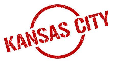 Kansas City stamp. Kansas City grunge round isolated sign