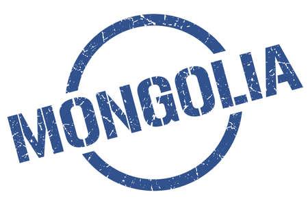 Mongolia stamp. Mongolia grunge round isolated sign