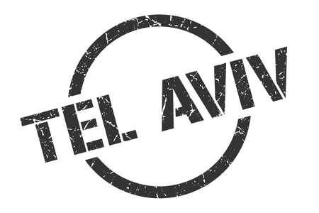 Tel Aviv stamp. Tel Aviv grunge round isolated sign Vektoros illusztráció