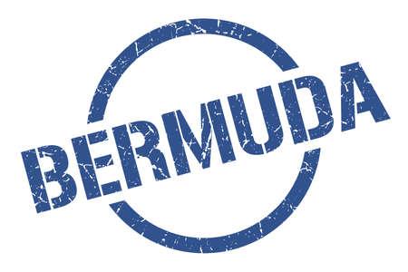 Bermuda stamp. Bermuda grunge round isolated sign