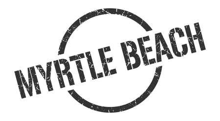 Myrtle Beach stamp. Myrtle Beach grunge round isolated sign