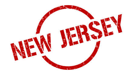 New Jersey stamp. New Jersey grunge round isolated sign