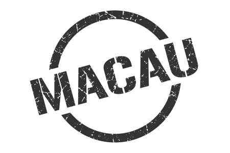 Macau stamp. Macau grunge round isolated sign