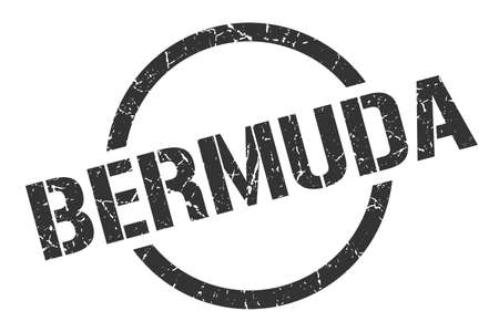 Bermuda stamp. Bermuda grunge round isolated sign