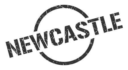 Newcastle stamp. Newcastle grunge round isolated sign Illustration