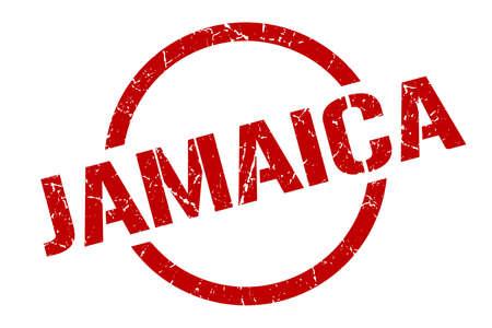Jamaica stamp. Jamaica grunge round isolated sign Vettoriali