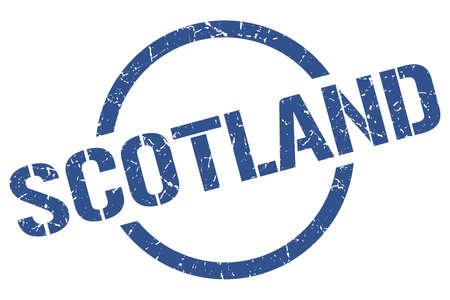 Sello de Escocia. Escocia grunge ronda signo aislado