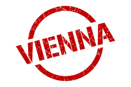 Vienna stamp. Vienna grunge round isolated sign Ilustracja
