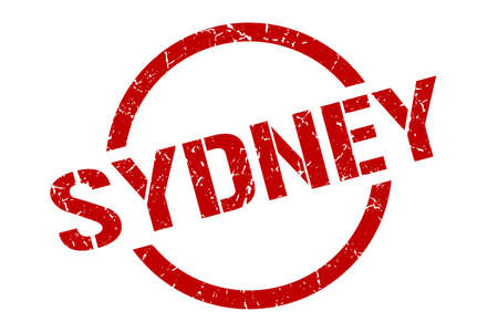 Sydney stamp. Sydney grunge round isolated sign Illustration