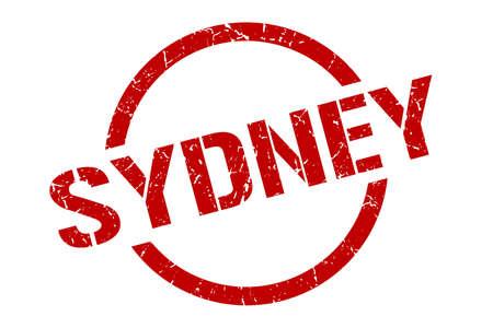 Sydney stamp. Sydney grunge round isolated sign 矢量图像