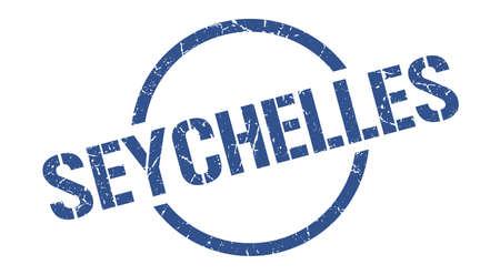 Seychelles stamp. Seychelles grunge round isolated sign