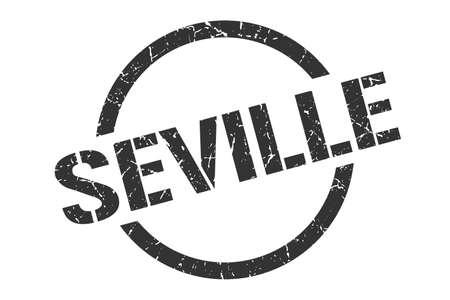Seville stamp. Seville grunge round isolated sign Ilustração