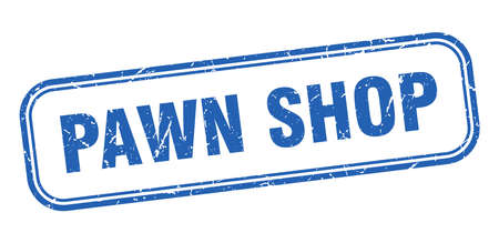 pawn shop stamp. pawn shop square grunge blue sign