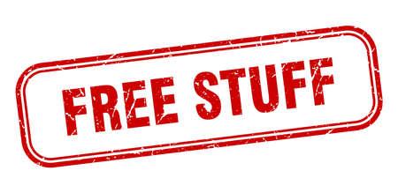 free stuff stamp. free stuff square grunge red sign Foto de archivo - 137893816