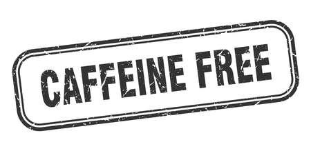 caffeine free stamp. caffeine free square grunge black sign Foto de archivo - 137894291