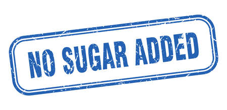 no sugar added stamp. no sugar added square grunge blue sign Foto de archivo - 137894504