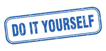 do it yourself stamp. do it yourself square grunge blue sign Ilustração