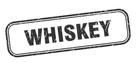 whiskey stamp. whiskey square grunge black sign Ilustrace