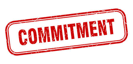commitment stamp. commitment square grunge red sign Vecteurs