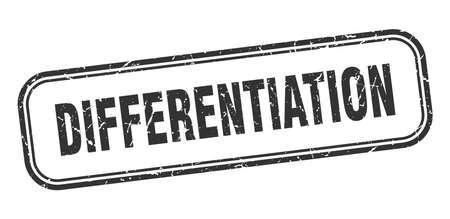 differentiation stamp. differentiation square grunge black sign
