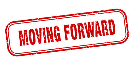 moving forward stamp. moving forward square grunge red sign Vecteurs