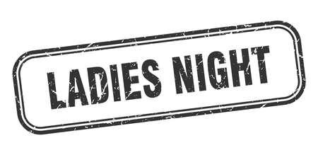 ladies night stamp. ladies night square grunge black sign Stock fotó - 137895056