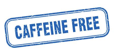 caffeine free stamp. caffeine free square grunge blue sign Foto de archivo - 137895061