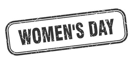 womens day stamp. womens day square grunge black sign