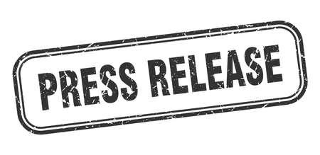 press release stamp. press release square grunge black sign Illustration