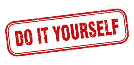 do it yourself stamp. do it yourself square grunge red sign Ilustração