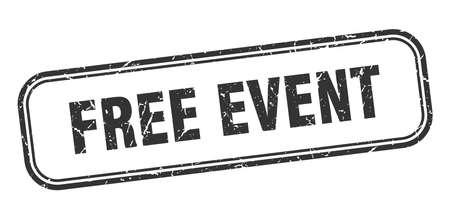 free event stamp. free event square grunge black sign Foto de archivo - 137895493