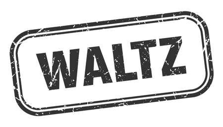 waltz stamp. waltz square grunge black sign