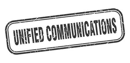 unified communications stamp. unified communications square grunge black sign