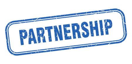 partnership stamp. partnership square grunge blue sign Ilustração