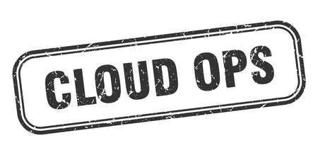 cloud ops stamp. cloud ops square grunge black sign