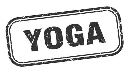 yoga stamp. yoga square grunge black sign