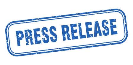 press release stamp. press release square grunge blue sign