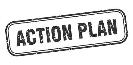 action plan stamp. action plan square grunge black sign