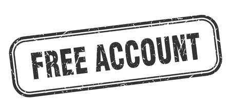 free account stamp. free account square grunge black sign Foto de archivo - 137897232