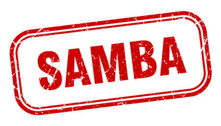 samba stamp. samba square grunge red sign