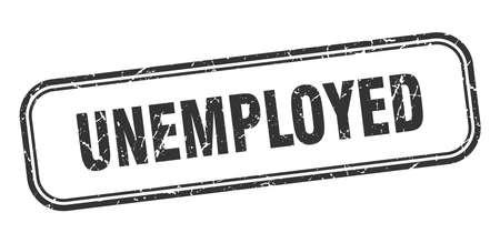 unemployed stamp. unemployed square grunge black sign