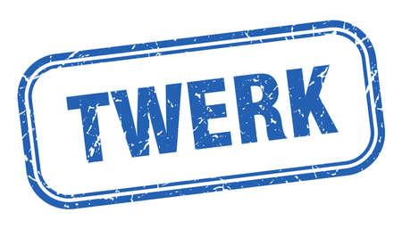 twerk stamp. twerk square grunge blue sign Ilustrace