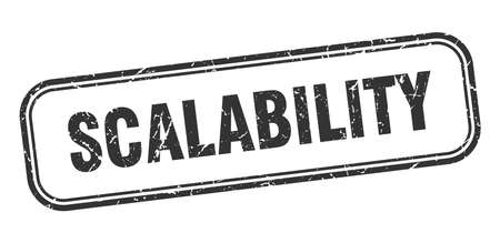 scalability stamp. scalability square grunge black sign