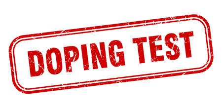 doping test stamp. doping test square grunge red sign Illustration